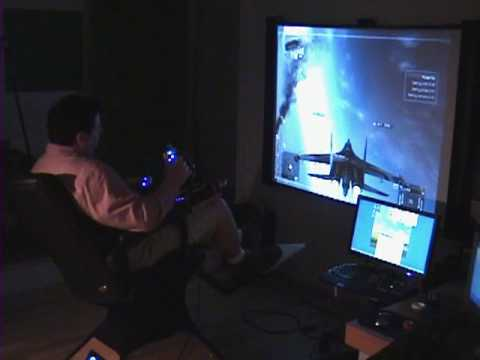 Full Motion Home Combat Flight Simulator Gaming Chair Hawx . Missles. Bombs. FSX .  2010