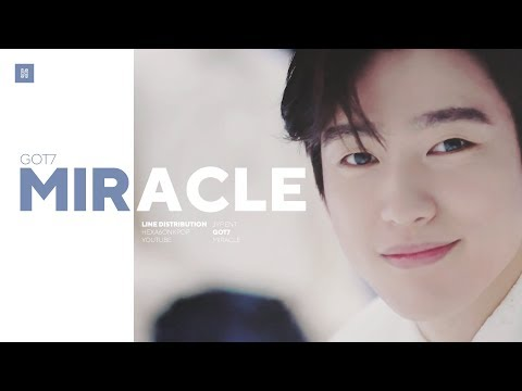 GOT7 - Miracle Line Distribution (Color Coded) | 갓세븐 - 리패키지