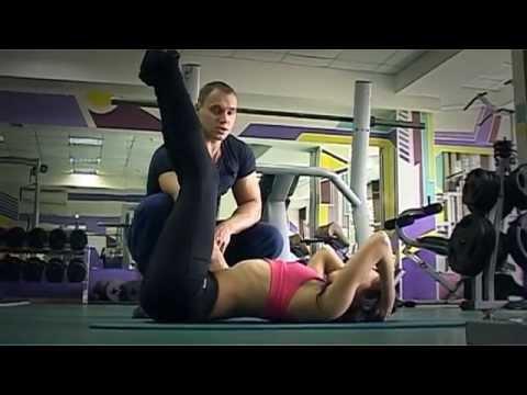Упражнение для талии- подъём ног