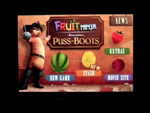 Fruit Ninja: Puss in Boots iPhone App Review - CrazyMikesapps