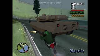 Running from police in  GTA san andreas