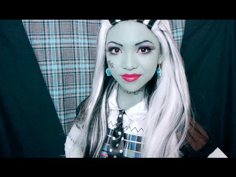 13 yr old does Frankie Stein Makeup Tutorial ♥