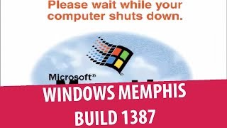 Windows Memphis (Windows 98 Alpha) build 1387