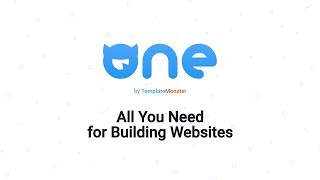 ONE by TemplateMonster. All You Need for Building Websites