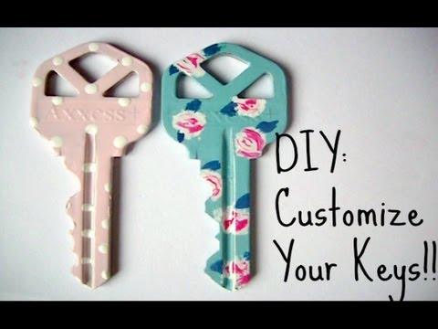 Keys With Nail Polish