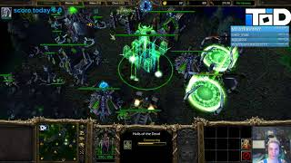 WarCraft III 1.30 PTR - Undead - Trying out Aboms + Disease Cloud, Sacrificial Skull