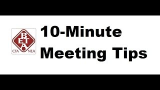 How To Have A Successful 10-Minute Meeting