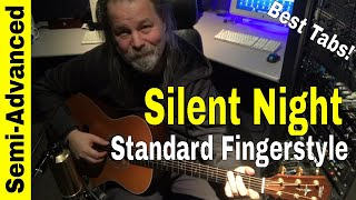 How to Play Silent Night on Guitar Fingerstyle Lesson 3