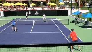 Bryan Brothers Bob and Mike 2012 Practice at La Quinta Resort and Spa in Indian Wells