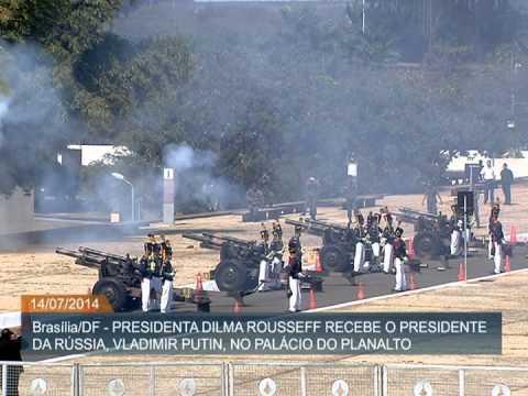 Dilma Rousseff recebe visita oficial do presidente russo Vladimir Putin