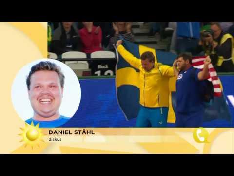 """Daniel Ståhl: """"Det är underbart att vakna med en medalj"""" - Nyhetsmorgon (TV4)"""