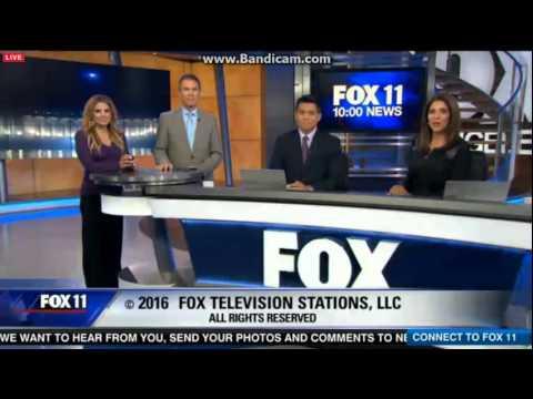 KTTV: FOX 11 10 O'Clock News Close--04/07/16