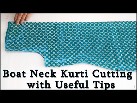 How to make Perfect Boat Neck | Boat Neck Kurti Cutting (Step by Step ) in Easy Way