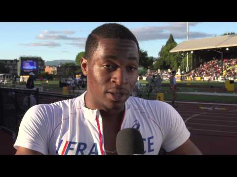 IAAF World Junior Championships 2014 - Wilhem BELOCIAN FRA 110m Hurdles Final Gold WJR