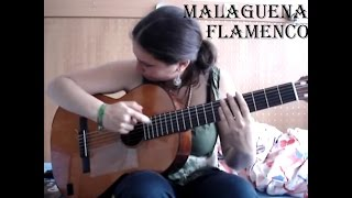 Malaguena flamenco guitar solo (better version) with TAB!