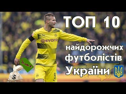 ТОП10 - Найдорожчі футболісти України 2018 | 10 найдорожчих футболістів українців | Лютий 2018