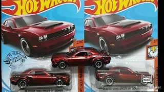 Hot Wheels Super Treasure Hunt 2018 Challenger SRT Demon unboxing and review