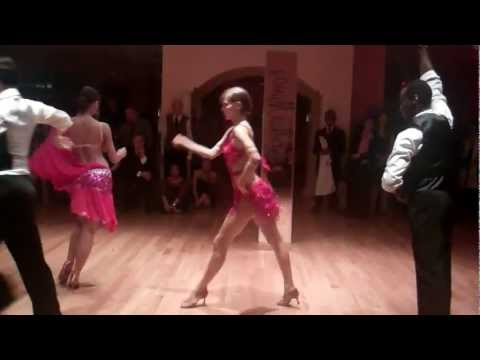Sexy Cha Cha Dance Red Dress Group Dance Manhattan Arthur Murray video