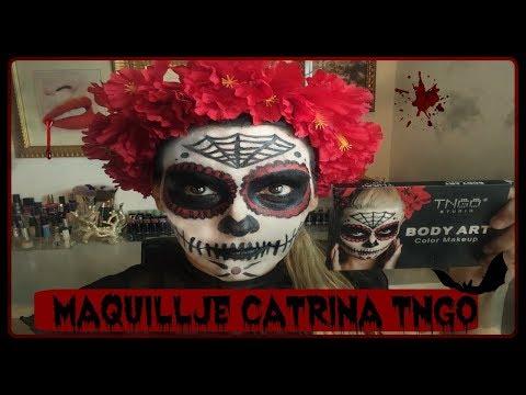 TUTORIAL DE CATRINA PARA HALLOWEEN (TNGO BODY ART PALETTE)