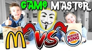 GAME MASTER Challenge #1 - Burger King vs. McDonalds Food Challenge - Lulu & Leon