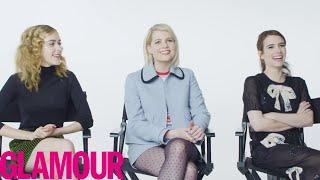 Emma Roberts Plays 'Who Knows You Best?' with Kiernan Shipka & Lucy Boynton   Glamour