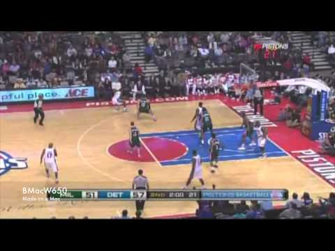 Pistons vs Bucks 2009-12-04 Highlights
