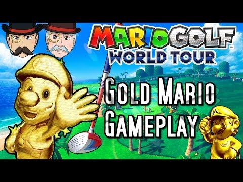 Mario Golf World Tour GOLD MARIO Gameplay! DLC Season Pass!