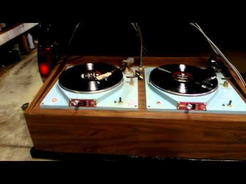 Vintage dj system Russco 3 cue master speed turn tables