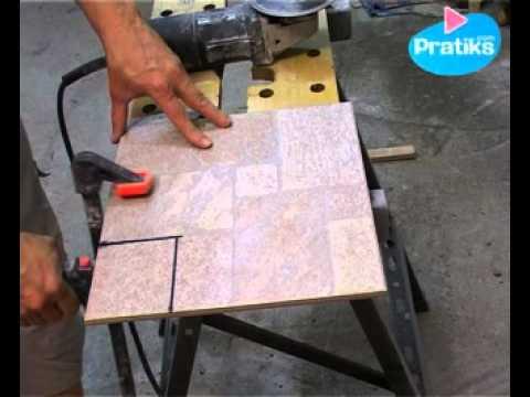 comment d couper du carrelage avec une meuleuse youtube