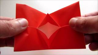 Origami Kissing Lips In Action