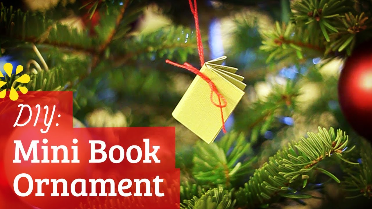 How To Make A Mini Book Christmas Ornament Youtube