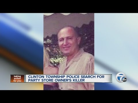 Police search for party store owner's killer