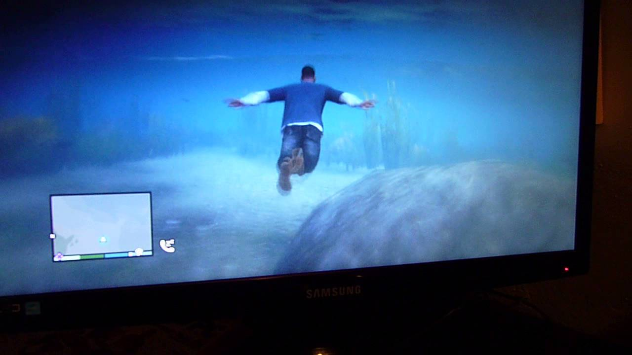 GTA 5 gameplay freestyle - Nager sous l'eau dans GTA V