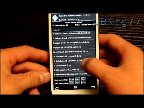 How to Install the JellyBomb JellyBean Rom on the Sprint Samsung Galaxy S III