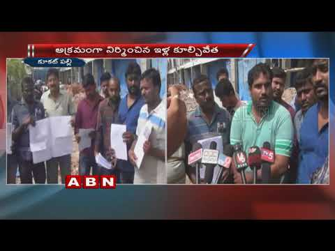 Illegal Constructions Demolished by GHMC | Kukatpally
