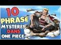 10 PHRASES MYSTÉRIEUSES DANS ONE PIECE   THÉORIE/HYPOTHÈSE😤