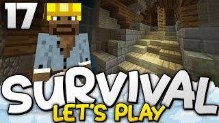 SECRET ESCAPE TUNNEL w/ Redstone! - Survival Let's Play Ep. 17 - Minecraft Bedrock (PE W10 XB1)