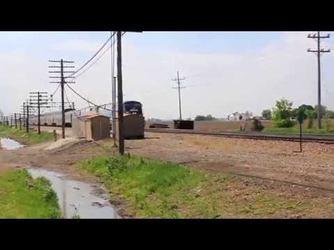 AMTRAK X 2 AT EARLVILLE IL