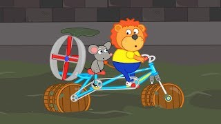 Lion Family Race in Rat's Lair Cartoon for Kids