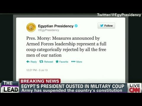 Egypt's president ousted in military coup