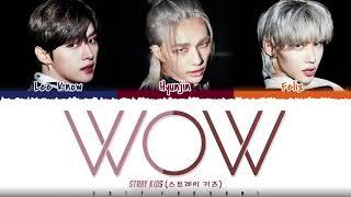 STRAY KIDS (DANCE RACHA) - 'WOW' Lyrics [Color Coded_Han_Rom_Eng]