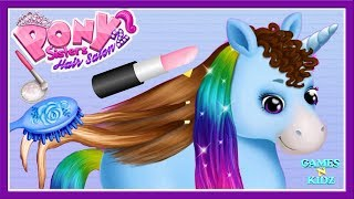 Fun Baby Pony Care - Kids Play Horses Dress Up, Makeover - Pony Hair Salon Kids Game