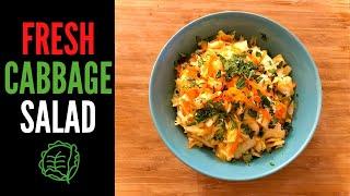 How to Make Coleslaw I Homemade Vinegar Coleslaw Recipe I (no mayo coleslaw) I Vegan and Gluten Free