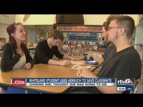Whiteland Community High School student saves choking classmate