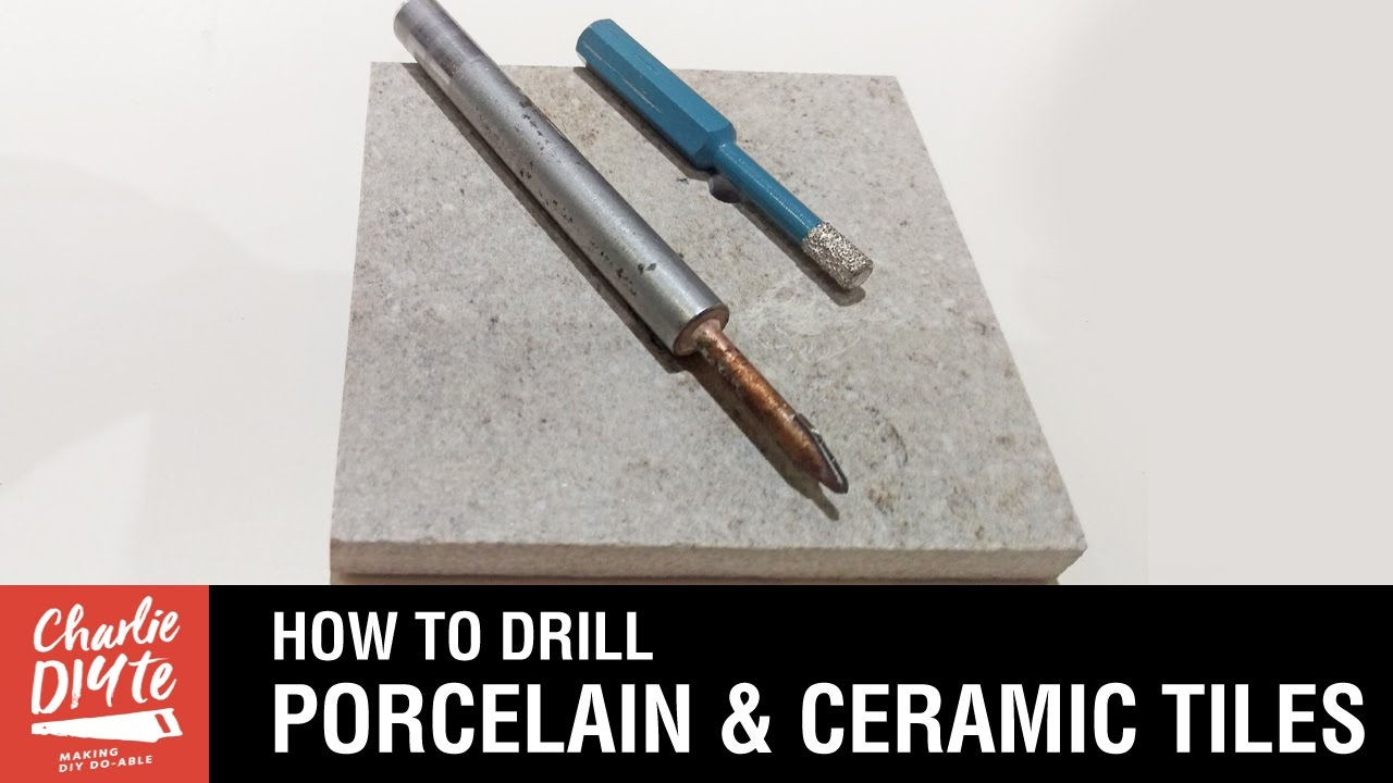 Drilling through ceramic tiles