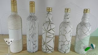 DIY - RECICLAJE DE BOTELLAS - BOTELLAS DECORADAS