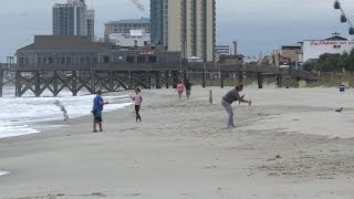 Myrtle Beach mostly deserted after evacuation order