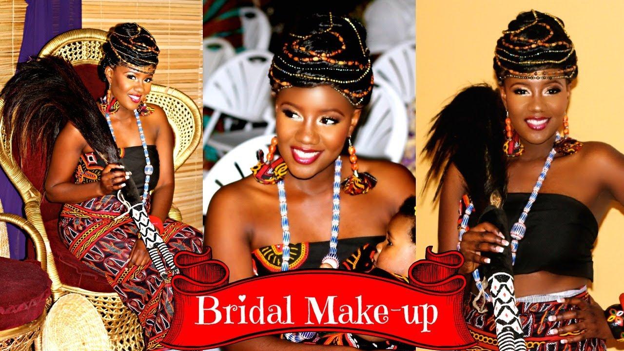 """Bridal Makeup for """"Queen of Bamenda"""" - YouTube"""