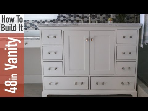 How to build a 48in Bathroom Vanity