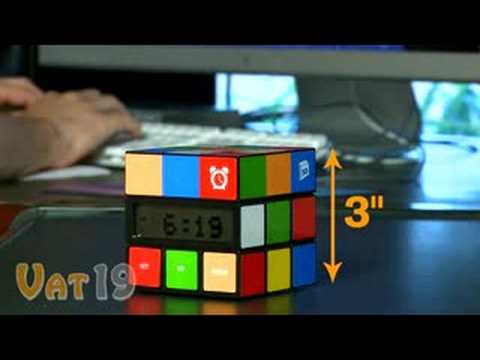 80s Rubik s Cube Clock Is Totally Rad!